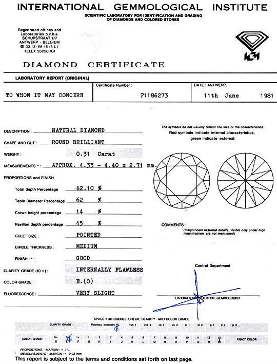 Foto 9, Diamant, Brillant 0,31 Carat Lupenrein River IGI Juwel!, D5780