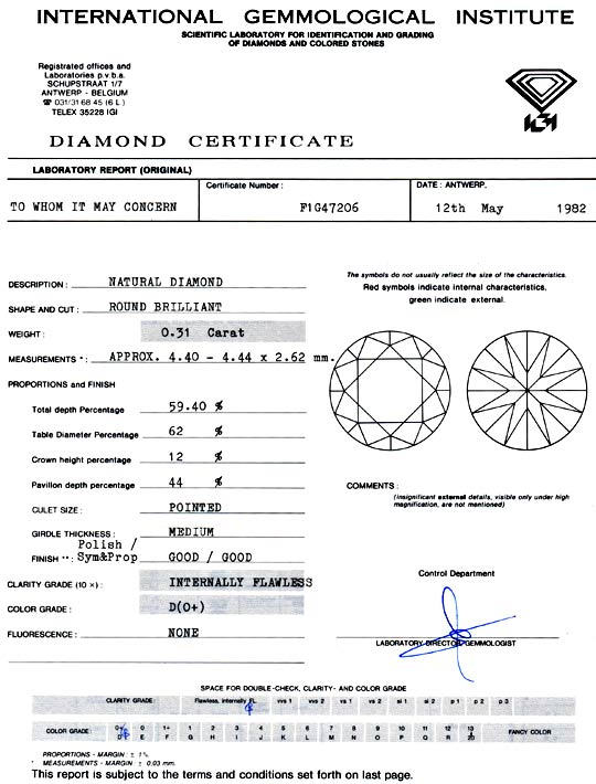 Foto 9, Diamant, IGI, Brillant 0,31ct Lupenrein, River D Juwel!, D5782