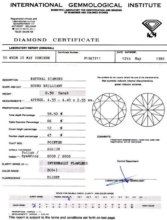 Foto 9, Diamant IGI 0,30 Lupenrein Hochfeines Weiss Plus Juwel!, D5783