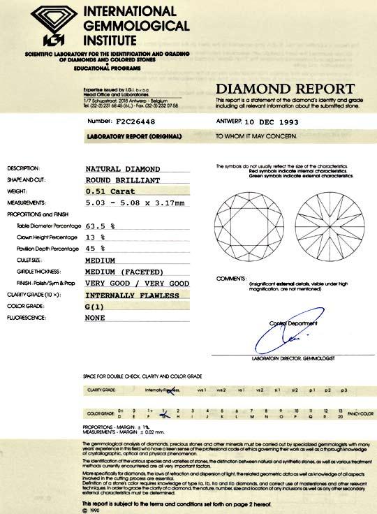 Foto 9, Diamant 0,51ct Brilliant, IGI, Lupenrein G VG/VG Juwel!, D5785