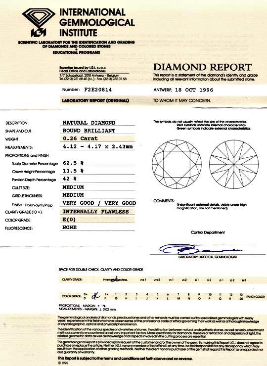 Foto 9, Diamant 0,26ct Brillant IGI Lupenrein River VGVG Juwel!, D5791
