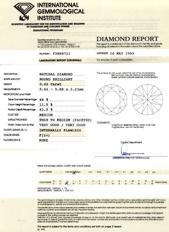Foto 9, Diamant 0,62ct IGI Lupenrein Top Wesselton Plus, Juwel!, D5793
