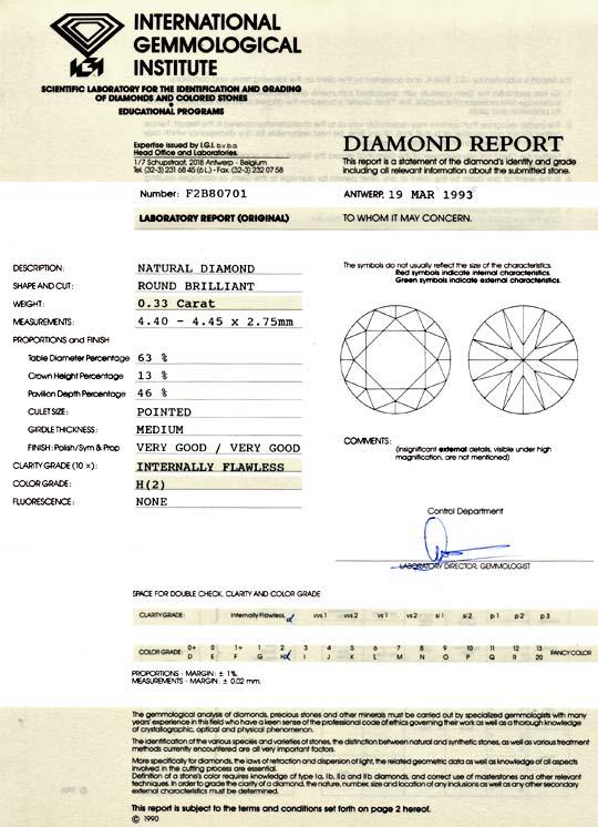 Foto 9, Diamant 0,33ct Brillant, IGI Lupenrein Wesselton Juwel!, D5796