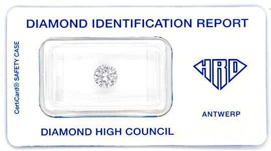 Foto 1, Diamant 1,02ct Brillant Lupenrein HRD-Gutachten Diamond, D5799