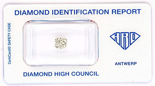 Foto 1, Diamant 0,907 Radiant Weiss-Rosa-Petrol VS1, HRD Juwel!, D5801