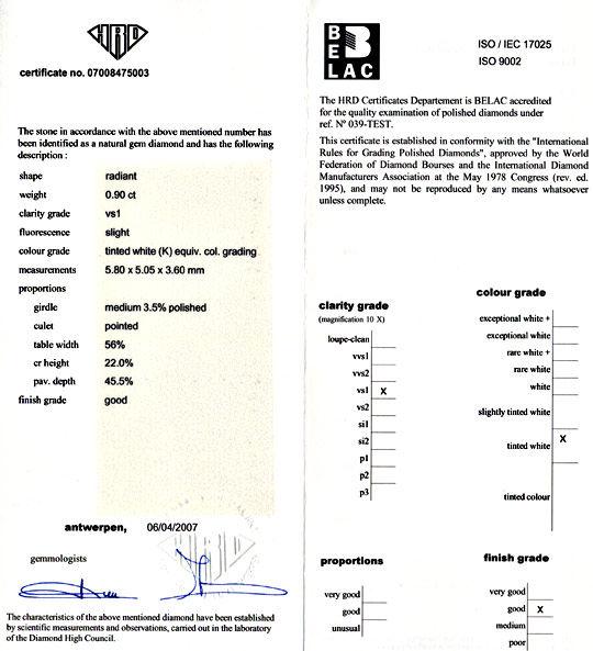 Foto 9, Diamant 0,907 Radiant Weiss-Rosa-Petrol VS1, HRD Juwel!, D5801