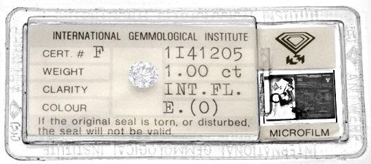 Foto 1, 1,00ct Brillant River! Lupenrein! IGI-Expertise Diamond, D5802