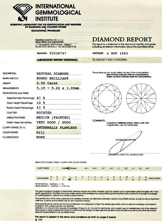 Foto 9, Diamant 0,50 Brillant IGI Lupenrein feines Weiss Juwel!, D5807
