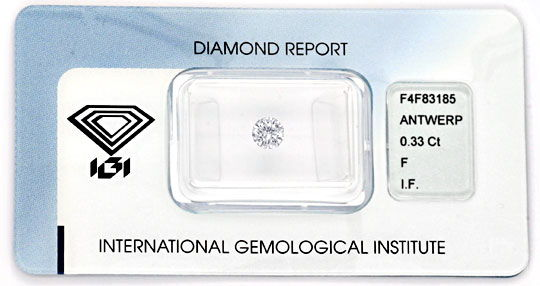 Foto 1, 0,33ct Brillant IGI LC Top Wesselton F Excellent Juwel!, D5808