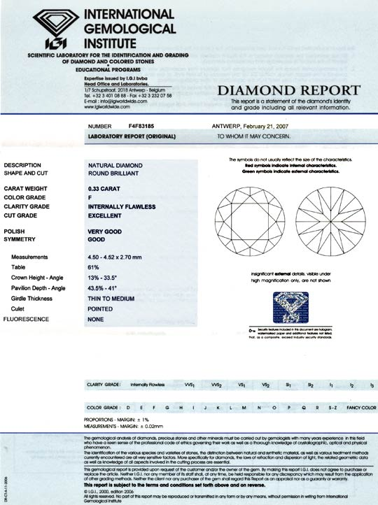 Foto 9 - 0,33ct Brillant IGI LC Top Wesselton F Excellent Juwel!, D5808