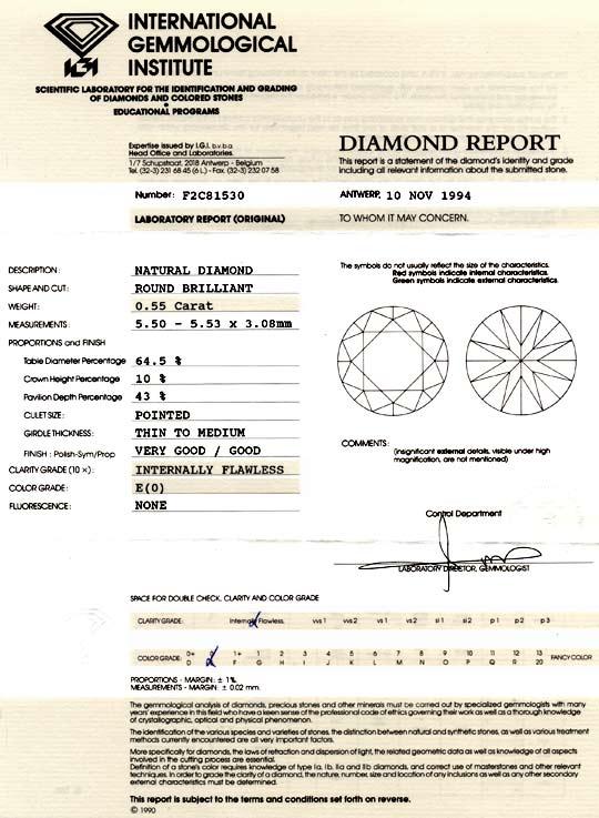 Foto 9, Diamant 0,55Carat Brillant IGI Lupenrein River-E Juwel!, D5812