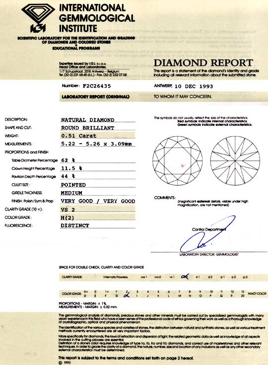 Foto 9, Diamant 0,51 Brilliant IGI Wesselton Weiss VG/VG Juwel!, D5823