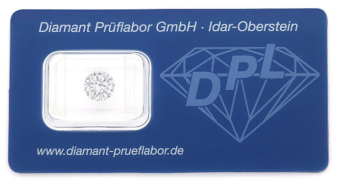Foto 1, Diamant 1,53 Brillant DPL I VVS Proportionen VG Diamond, D5828
