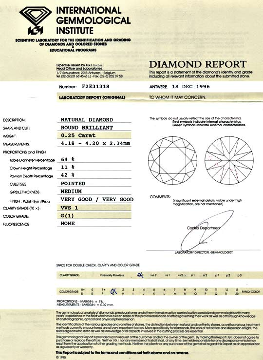 Foto 9, Diamant 0,25ct Brilliant, IGI VVS1 Top Wesselton Juwel!, D5829