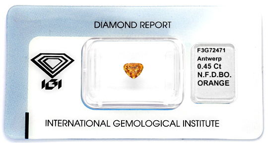 Foto 1 - Herzdiamant 0,45 Natural Fancy Deep Brown Orange Juwel!, D5852