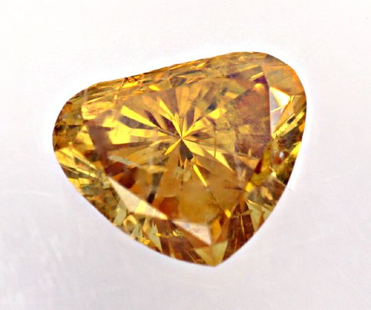 Foto 2, Herzdiamant 0,45 Natural Fancy Deep Brown Orange Juwel!, D5852