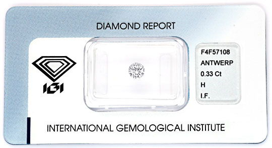 Foto 1 - Diamant 0,33 IGI H Lupenrein Excellent Very Good Juwel!, D5859