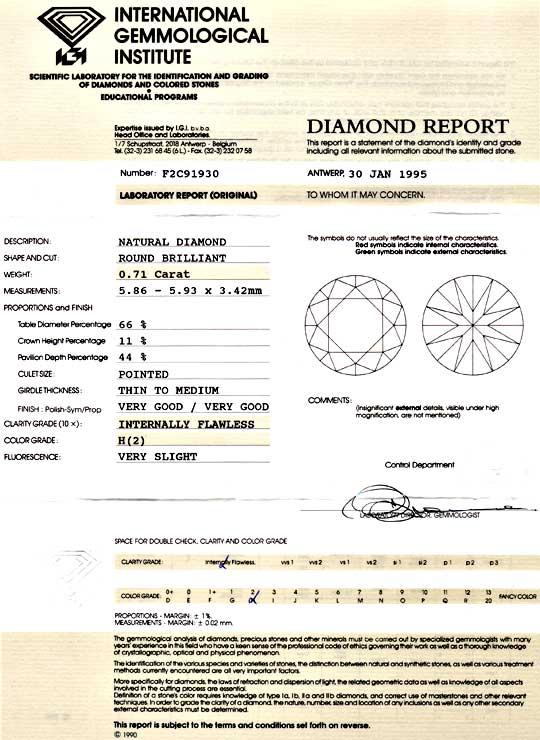 Foto 9, Diamant 0,71ct Brillant IGI Lupenrein Weiss VGVG Juwel!, D5861