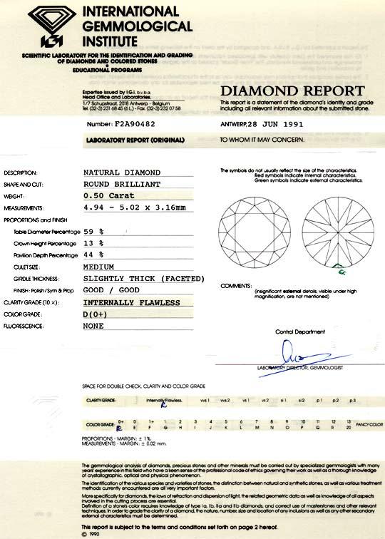 Foto 9, Der Beste Diamant 0,50ct IGI, Lupenrein River D, Juwel!, D5863