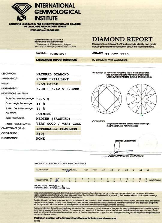 Foto 9, Diamant 0,59ct Brillant IGI Lupenrein River VGVG Juwel!, D5870