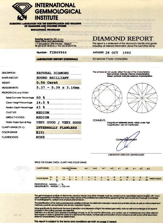 Foto 9, Diamant 0,56ct Brillant IGI Lupenrein River VGVG Juwel!, D5877