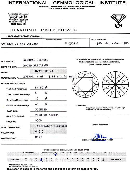 Foto 9, Diamant 0,37 Brillant IGI Lupenrein Topwesselton Juwel!, D5882