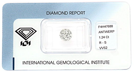 Foto 1, Diamant 1,24ct Brillant IGI VVS2 Super-Brillianz Juwel!, D5884
