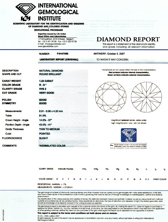 Foto 9, Diamant 1,24ct Brillant IGI VVS2 Super Brillianz Juwel!, D5884