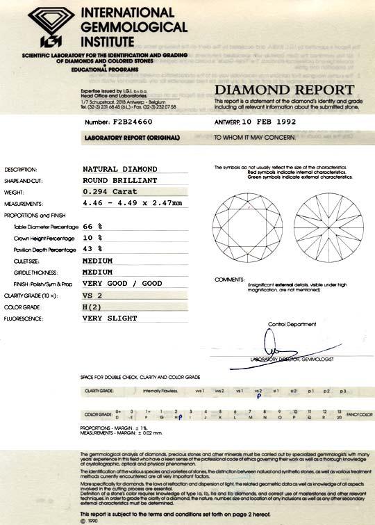 Foto 9, Diamant 0,294ct Brillant IGI VS2 Wesselton Weiss Juwel!, D5894
