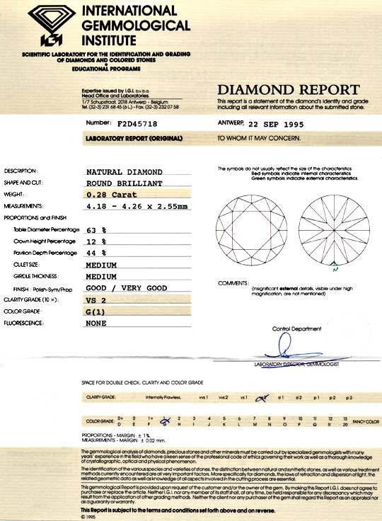 Foto 9 - Diamant 0,28ct Brillant IGI, Top Wesselton G VS2 Juwel!, D5896