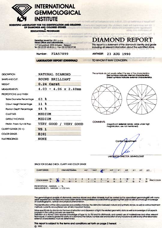 Foto 9, Diamant 0,24 Brillant IGI River Hochfeines Weiss Juwel!, D5899