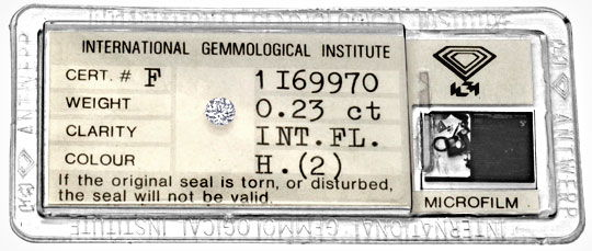 Foto 1, Diamant 0,23ct Brillant IGI, Lupenrein Wesselton Juwel!, D5900