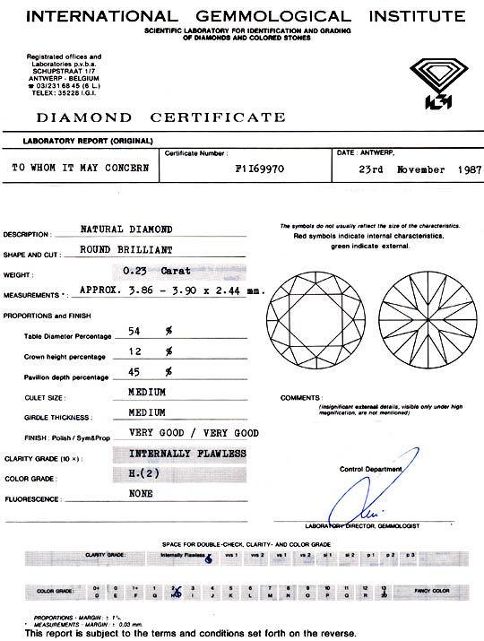 Foto 9, Diamant 0,23ct Brillant IGI, Lupenrein Wesselton Juwel!, D5900
