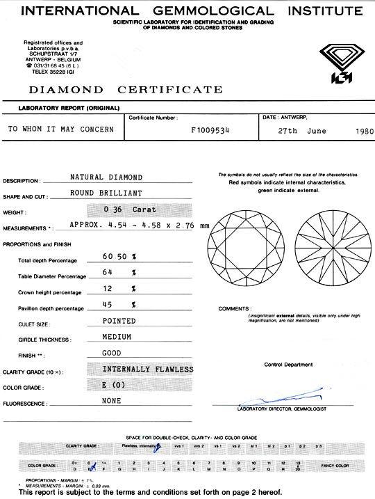 Foto 9, Diamant 0,36 Carat Brillant, IGI Lupenrein River Juwel!, D5903