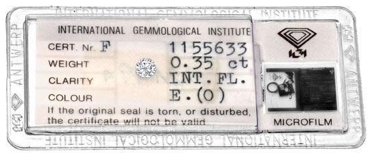 Foto 1, Diamant 0,35 Carat Brilliant IGI Lupenrein River Juwel!, D5904
