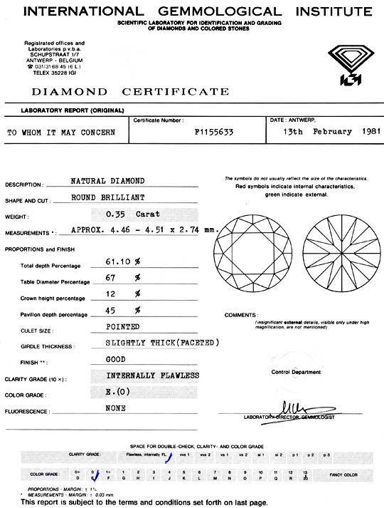 Foto 9, Diamant 0,35 Carat Brilliant IGI Lupenrein River Juwel!, D5904