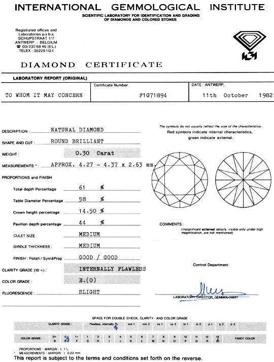 Foto 9, Diamant 0,30 Carat Brilliant IGI Lupenrein River Juwel!, D5906