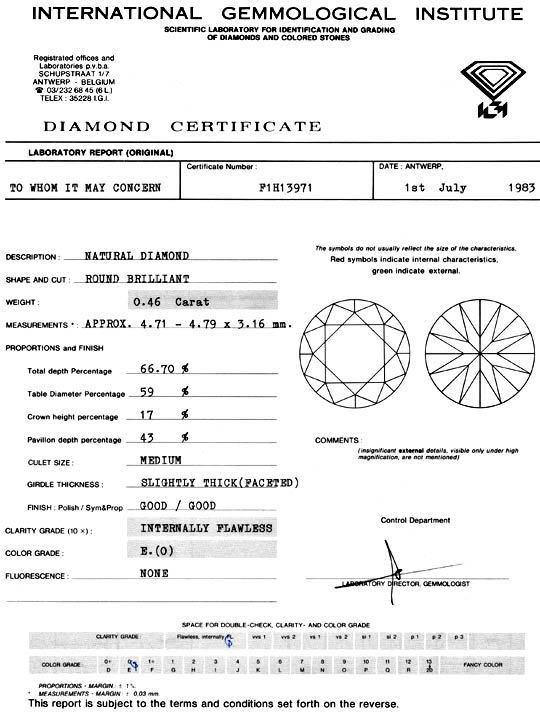 Foto 9, Diamant 0,46Carat Brillant IGI Lupenrein River E Juwel!, D5916
