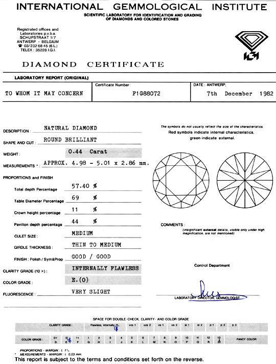 Foto 9, Diamant 0,44 Carat IGI-Expertise Lupenrein River Juwel!, D5917