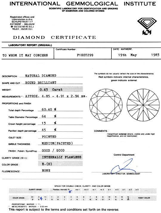 Foto 9, Diamant 0,43 Carat IGI-Gutachten Lupenrein River Juwel!, D5918