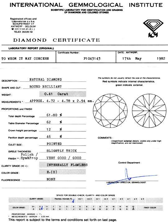 Foto 9, Diamant 0,41Carat Brillant IGI Lupenrein River-E Juwel!, D5920