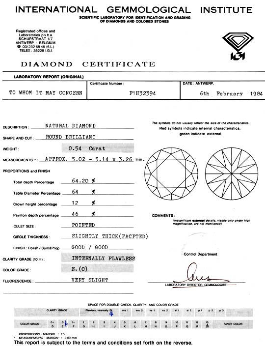 Foto 9, Diamant 0,54 Carat, Brillant IGI Lupenrein River Juwel!, D5922