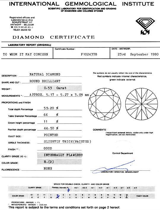 Foto 9, Diamant 0,53 Brilliant Halbkaräter IGI Lupenrein Juwel!, D5923