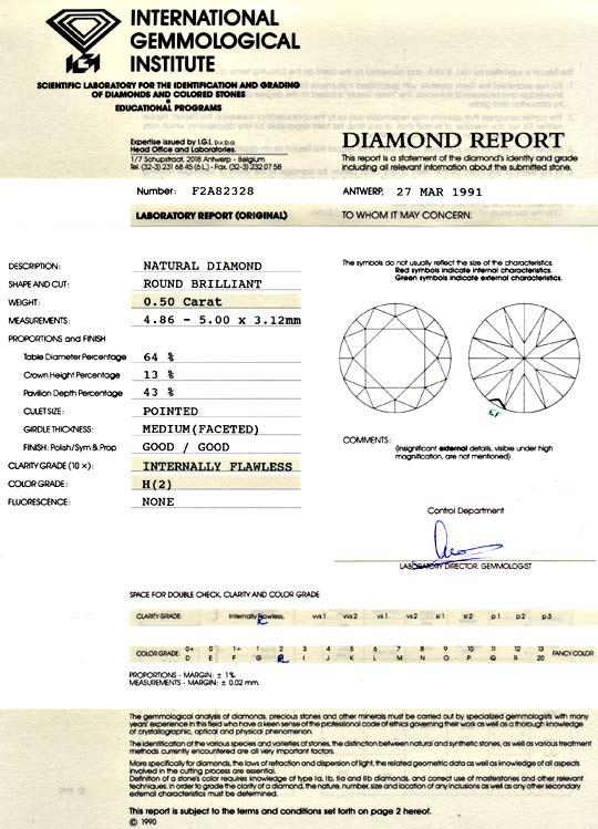 Foto 9, Diamant 0,50ct Brilliant IGI Lupenrein Wesselton Juwel!, D5925