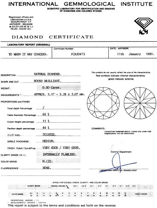 Foto 9, Diamant 0,50ct IGI Lupenrein Wesselton, sehr gut Juwel!, D5926