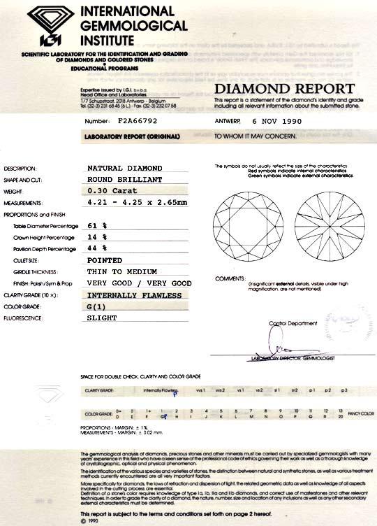 Foto 9, Diamant 0,3 Brillant IGI Lupenrein Top Wesselton Juwel!, D5928