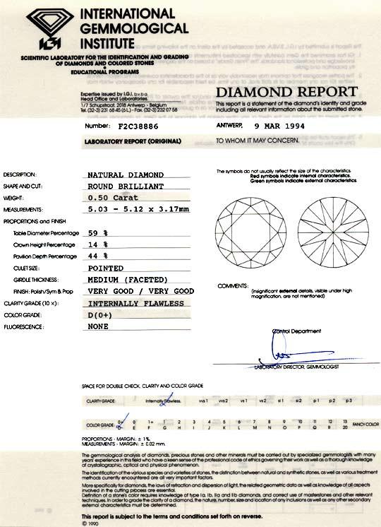 Foto 9, Best-Qualität Diamant 0,50ct Lupenrein River IGI Juwel!, D5934
