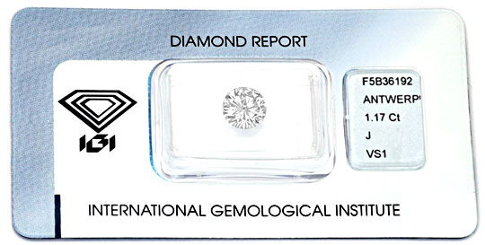 Foto 1 - Diamant 1,17 VS1 Crystal Brillant IGI Gutachten Diamond, D5937