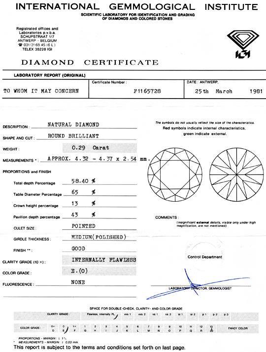 Foto 9, Diamant 0,29 Carat Brilliant IGI Lupenrein River Juwel!, D5941