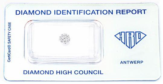 Foto 1, Diamant 0,53ct Brilliant HRD Brillant River VVS1 Juwel!, D5944